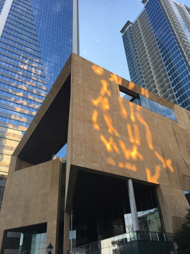 Cool sun reflection on museum